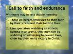 call to faith and endurance13