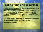 call to faith and endurance130