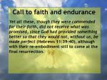 call to faith and endurance131
