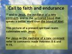 call to faith and endurance133