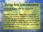 call to faith and endurance135