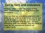 call to faith and endurance136