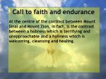 call to faith and endurance137