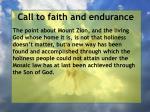 call to faith and endurance138