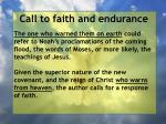 call to faith and endurance141