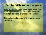 call to faith and endurance142