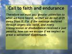 call to faith and endurance143