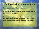 call to faith and endurance145