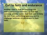 call to faith and endurance148