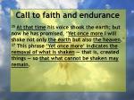 call to faith and endurance149