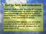 call to faith and endurance15