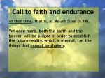 call to faith and endurance151