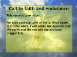 call to faith and endurance152