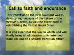 call to faith and endurance153