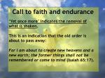 call to faith and endurance154