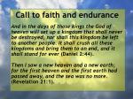 call to faith and endurance156
