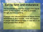 call to faith and endurance158