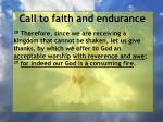 call to faith and endurance159