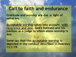 call to faith and endurance160