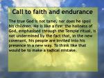 call to faith and endurance163