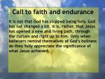 call to faith and endurance164