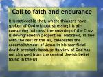 call to faith and endurance165