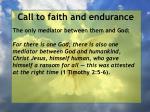 call to faith and endurance18