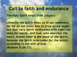 call to faith and endurance19