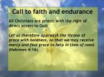 call to faith and endurance20