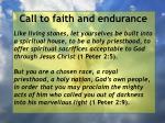 call to faith and endurance23