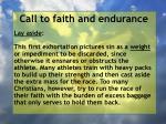 call to faith and endurance24