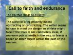 call to faith and endurance25