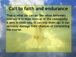 call to faith and endurance26