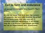 call to faith and endurance27