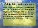 call to faith and endurance29