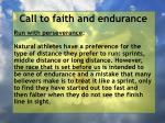 call to faith and endurance31
