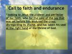 call to faith and endurance32