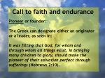 call to faith and endurance35