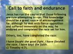 call to faith and endurance36