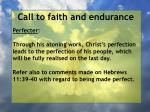 call to faith and endurance37