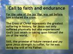 call to faith and endurance38