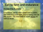 call to faith and endurance40