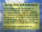 call to faith and endurance41