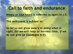 call to faith and endurance46