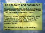 call to faith and endurance50