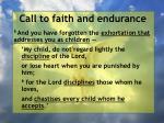 call to faith and endurance51