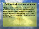 call to faith and endurance52