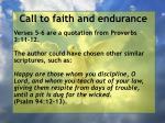 call to faith and endurance53