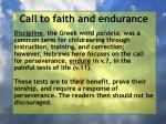 call to faith and endurance55