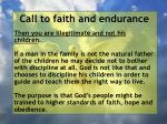 call to faith and endurance56